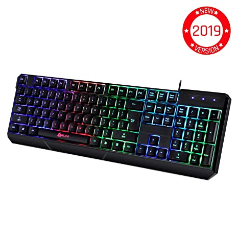 001f03a0063 Amazon.com: ⭐️KLIM Chroma Gaming Keyboard - Wired USB Backlit ...
