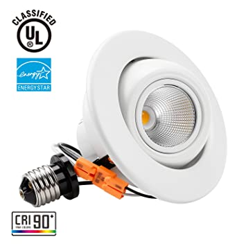 Torchstar high cri90 4 inch dimmable gimbal recessed led downlight torchstar high cri90 4 inch dimmable gimbal recessed led downlight 10w 75w equiv aloadofball Image collections