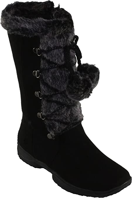 Forever Women/'s Emily-9 Faux Suede Square-toe Flat Heel Mid-Calf Boots