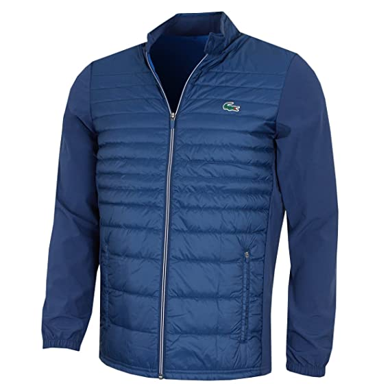 7080637ca Lacoste Mens BH9537 Technical Quilted Golf Jacket - Inkwell - Size 52 - L   Amazon.co.uk  Clothing