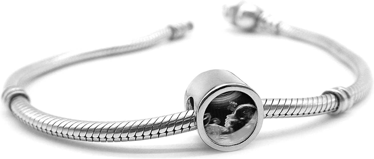 Bracelet Charm 925 Sterling Silver Personalized Photo Bead DIY Picture Cube Pendant for Bracelet Necklace Anniversary
