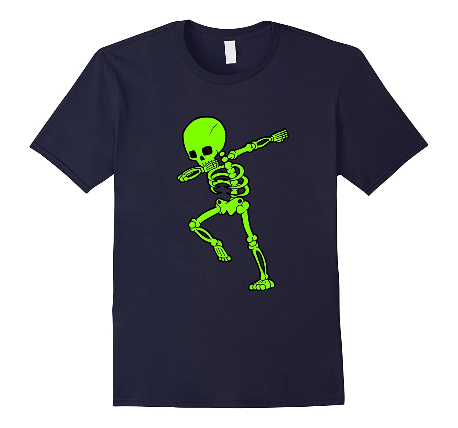 Dabbing Green Skeleton Shirt Dab Skull Hip Hop Pose-FL