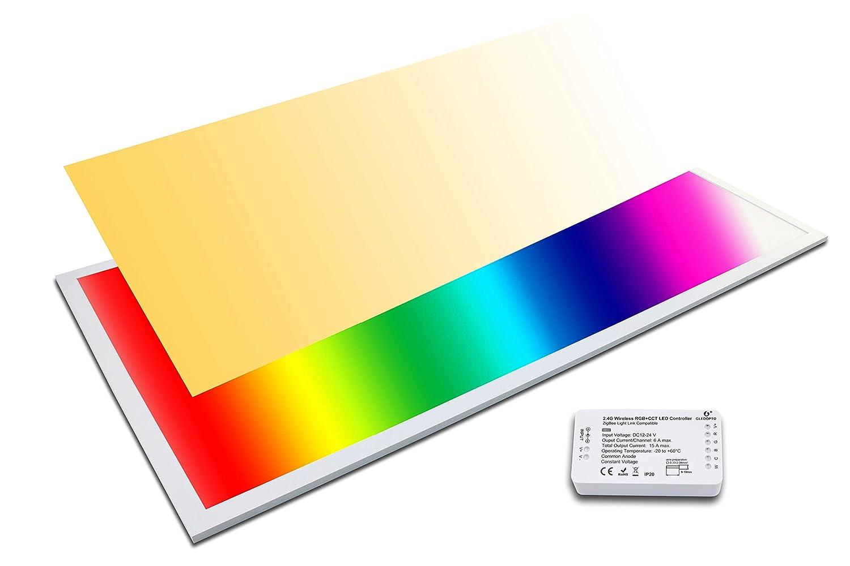 LED Panel RGB+CCT 120x60 plus WW+CW 60 Watt warmweiß bis kaltweiß dimmbar und alle RGB Farben (Mit Zigbee Controller)