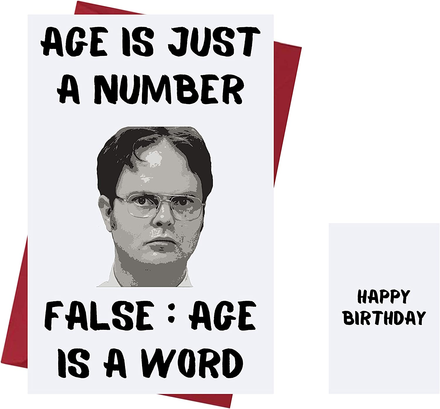 Funny Birthday Card The Office US – Dwight Schrute – Birthday Card Dwight Schrute – The Office TV Series Greeting Card – For Friends, Family, Lover, Etc. Who Love The Office TV Series – With Envelope