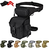 Injoy Multi-purpose Tactical Drop Leg Bag Tool Fanny Thigh Pack Leg Rig Military Motorcycle Camera Versipack Utility Pouch, Black/Coyote Tan/Army Green Available
