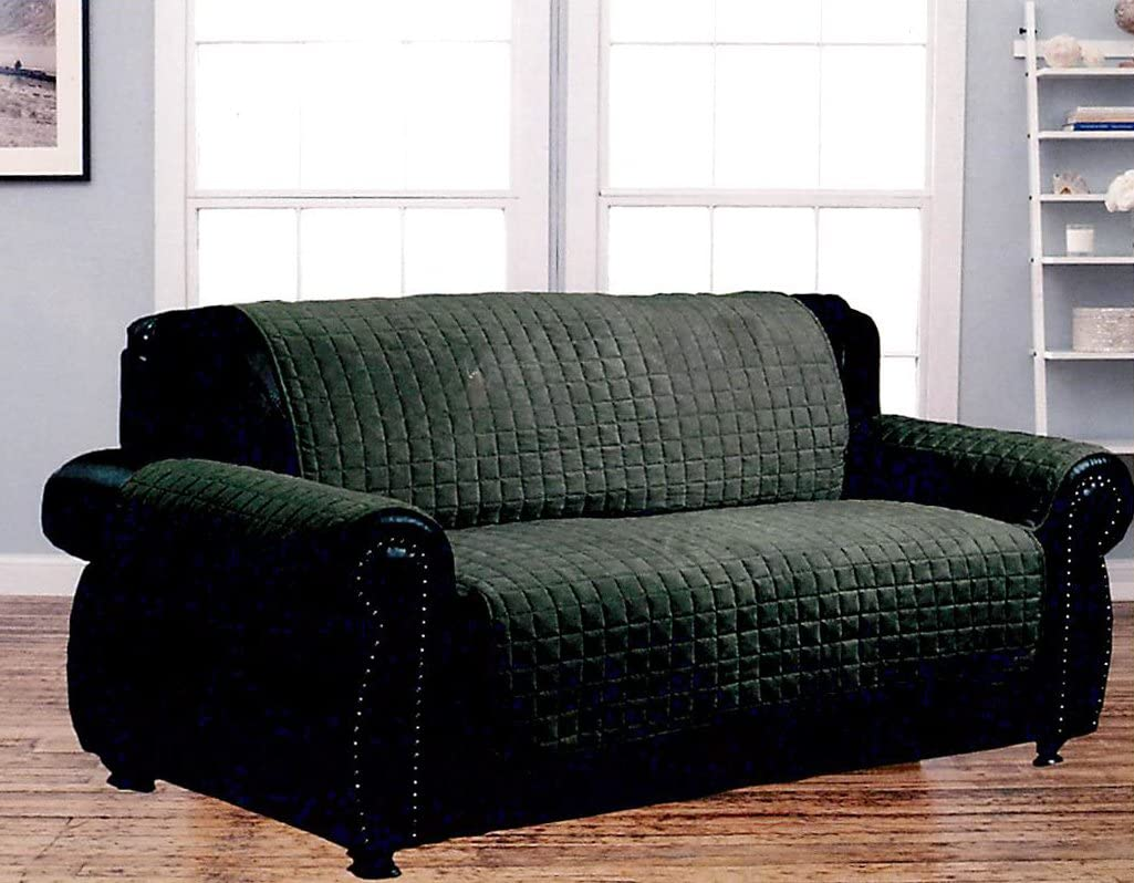 Dormire Microsuede Quilted Furniture Protector for Loveseat - Machine Washable - 70