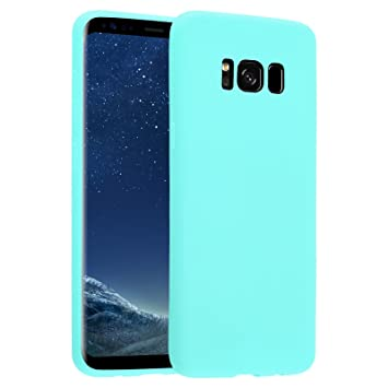 Funda Galaxy S8, JAMMYLIZARD Carcasa TPU Ultra Fina Goma De Silicone [ Jelly ] Back Cover Case Para Samsung Galaxy S8, TURQUESA