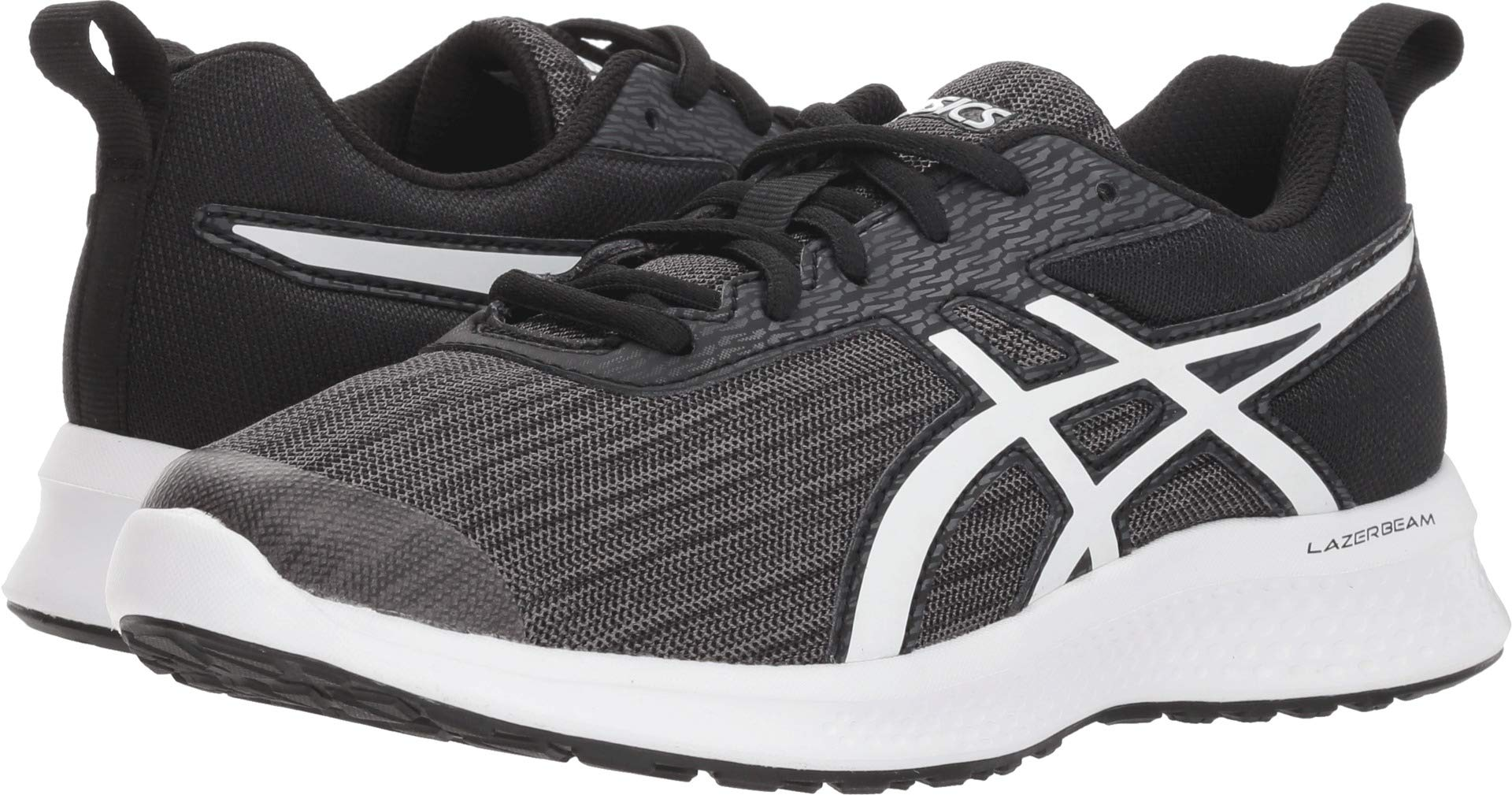 ASICS Kids Boy's Lazerbeam EA (Little Kid/Big Kid) Black/White 1 M US Little Kid M