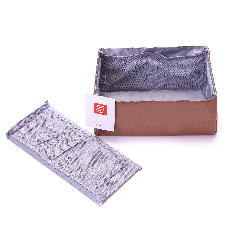 IN Purse Organizer,Handbag Organizer Insert for Speedy 25,30,35 Purse Liner Foldable (Medium, brown) by iN. (Image #8)