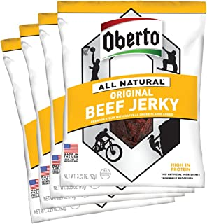 product image for Oberto All Natural Original Beef Jerky, 3.25-Ounce Bag (Pack of 4)