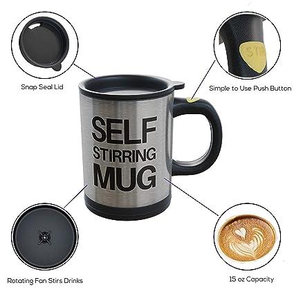 1b983225a3c Buy KARTsHITech Self Stir Mug Automatic Self Stirring Electric Mug ...