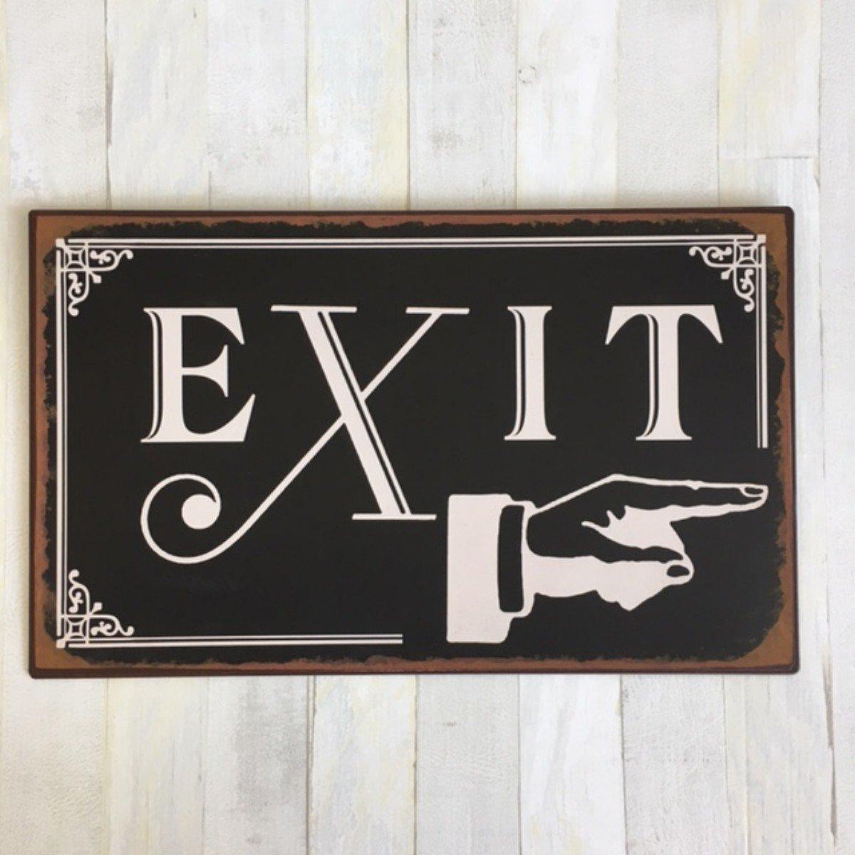Cartel de chapa en envejecido. - Cartel de Exit de metal ...