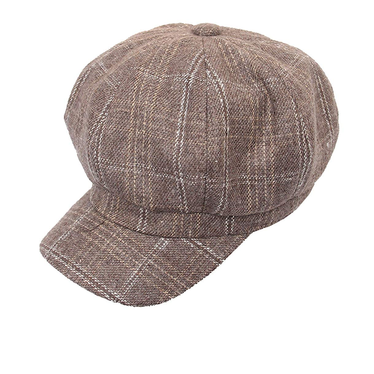 4835d9ed927023 ... Women Tweed-Plaid Newsboy-Hats Cabbie - Classic-Cabbie Paperboy Painter  Newsboy Cap ...