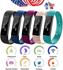 iSports Health Sport Wrist Watch Band Fitness Activity Tracker For Android & iPhone (Cyan)