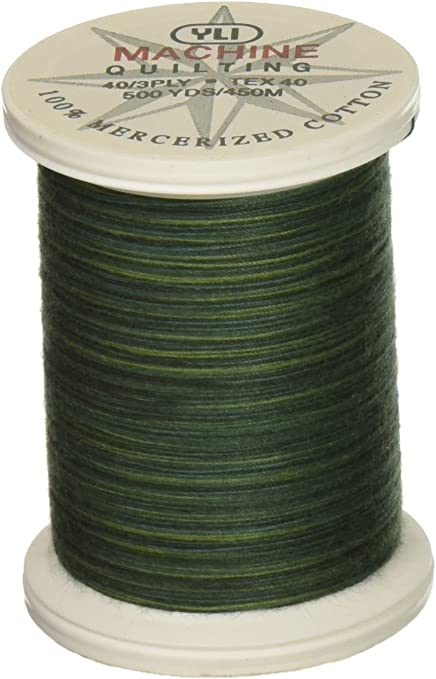 Earth 500 yd YLI 24450-13V 3-Ply 40wt T-40 Cotton Quilting Variegated Thread