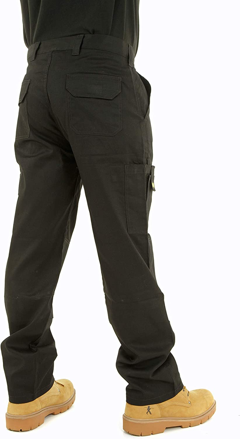 Mens Cargo Work Trousers Size 30 to 42 by MIG Combat with Knee PAD Pockets