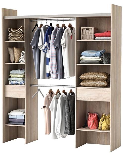 Kleiderschrank AKAZIE 3005 offen BEGEHBAR Regal Schrank Garderobe ...