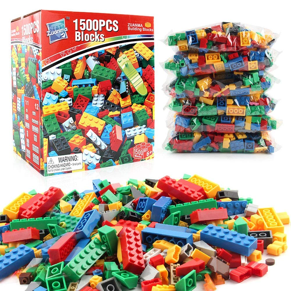 AUMING Juegos de Bloques 1500 PC Building Bricks Stem Kit Educativo de construcción Preescolar de Bloques de construcción Ajustado y Compatible con Todas Las Marcas (Color : Multi-Colored)