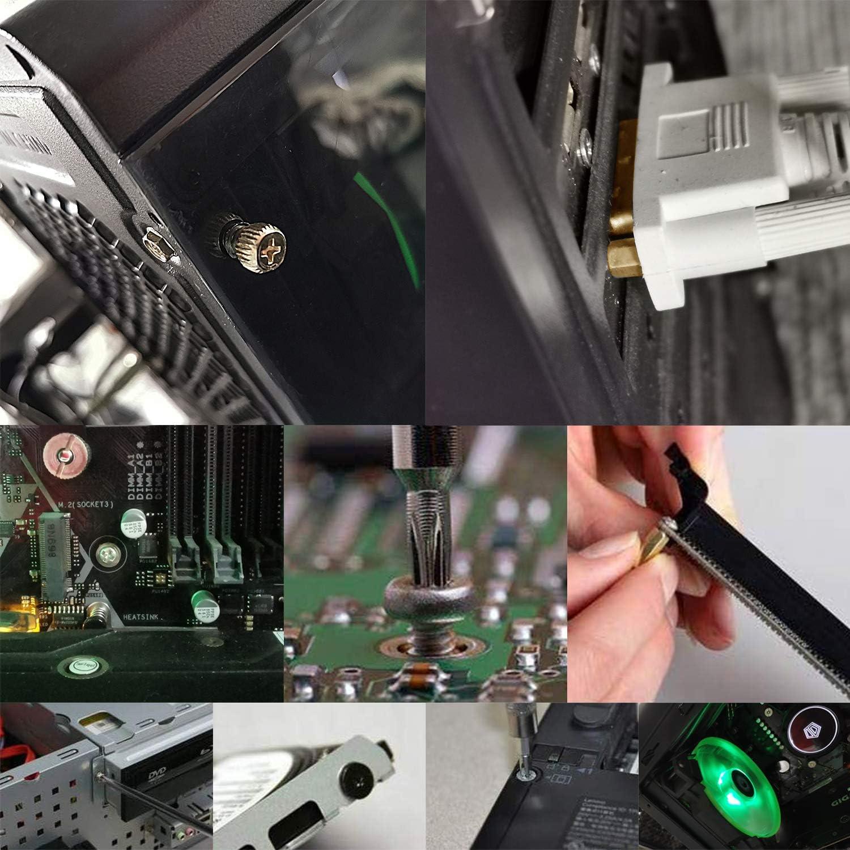 PC Screws Standoffs Set Kit for Hard Drive Computer Case Motherboard Fan Power Graphics CD-ROM Wandefol 785pcs Computer Screw