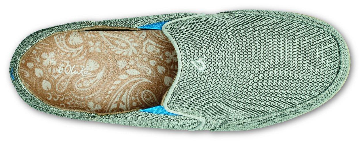 OLUKAI Waialua Mesh Shoes - Women's B01HIF7LWY 7 B(M) US|Pale Grey/Tide Blue