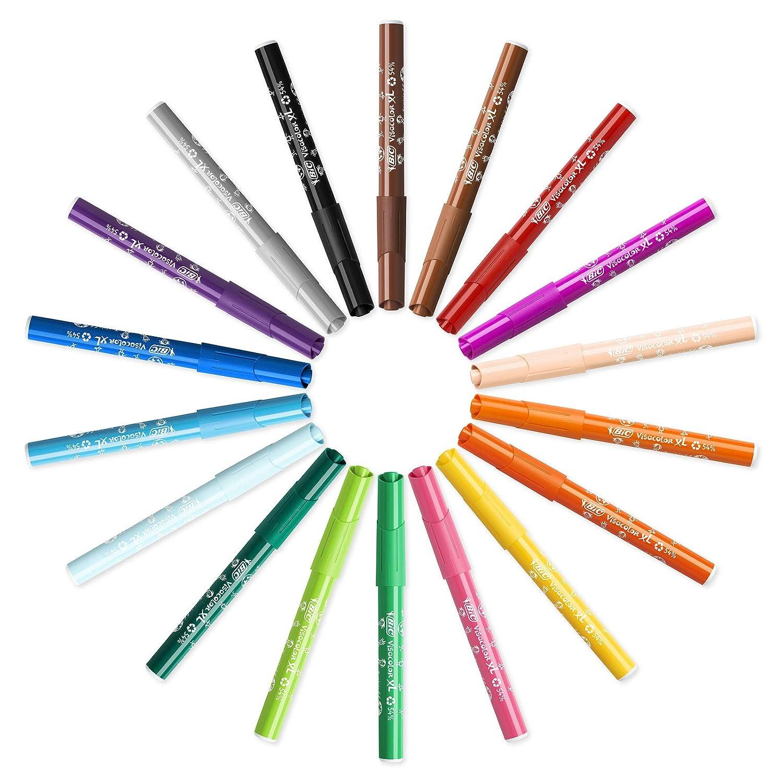 Confezione da 12 pennarelli Ecolutions Visa Color XL BiC Kids colori assortiti