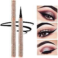 Diamond Delineadores Eyeliner Pen Waterproof Black Precision Micro Eye Liner Liquid Pen Quick Drying Lápiz de maquillaje cosmético de larga duración para mujeres niñas ojos