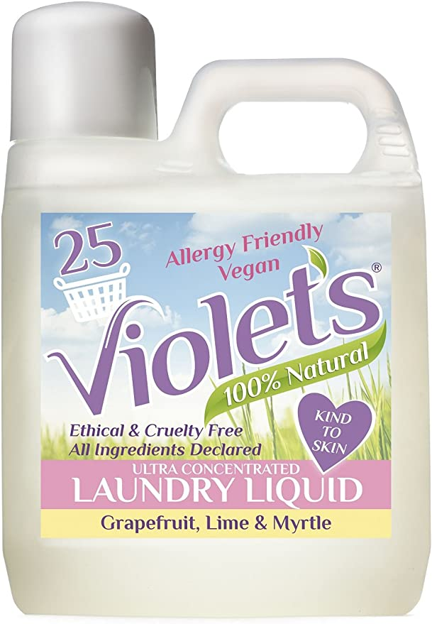 Detergente líquido natural, de la marca Violets, pomelo, lima y ...