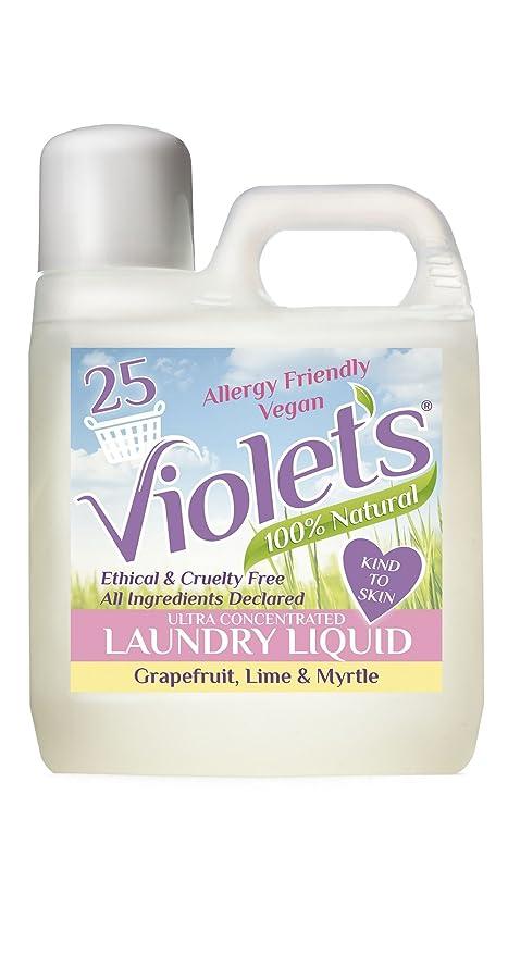 Detergente líquido natural, de la marca Violets, pomelo, lima y mirto