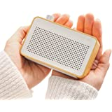EMIE Minimalist Wooden Portable Bluetooth Speaker , Radio-designed Home Speaker with Super Bass , Works with Apple iPhone , iPad , Samsung and More