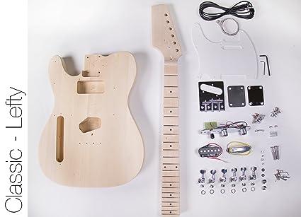 DIY Kit de guitarra eléctrica – Construye tu propio tipo Telecaster guitarra Lefty