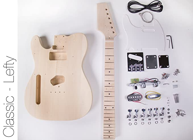 DIY Kit de guitarra eléctrica - Construye tu propio tipo Telecaster guitarra Lefty: Amazon.es: Instrumentos musicales