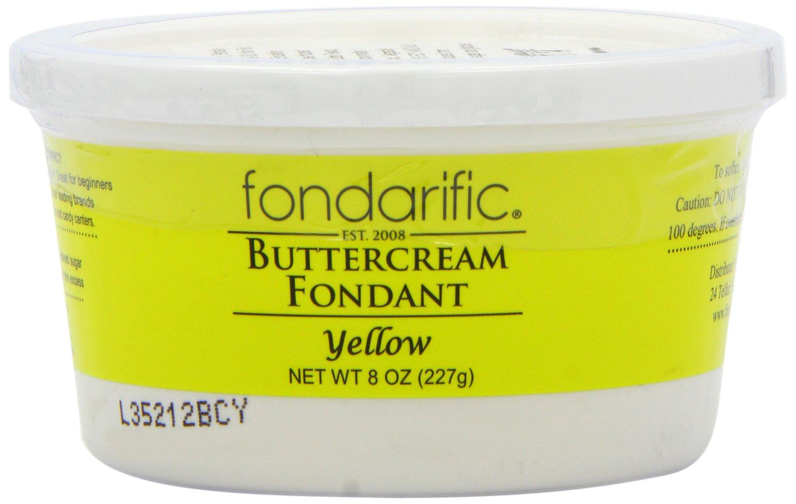 Fondarific Buttercream Fondant, Yellow, 8 Ounce