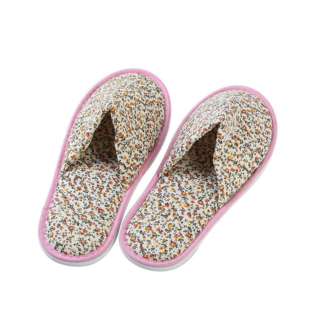 LBWT Ladies Slippers - Hotel Guests Slippers Non-Disposable Slippers Thicken Non-Slip Small Floral Non-Woven Slippers Pedicure Shop Beauty Salon Club 10 Pairs by LBWT