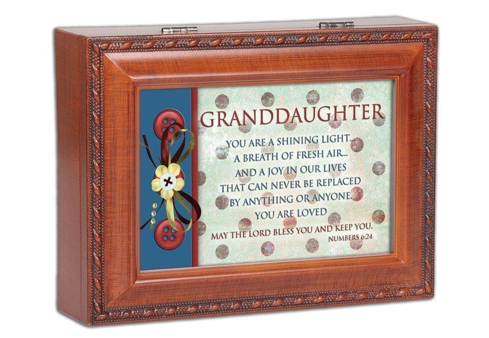 Nieta madera inspirado Cottage Garden tradicional caja de música Reproduce Jesús Me ama
