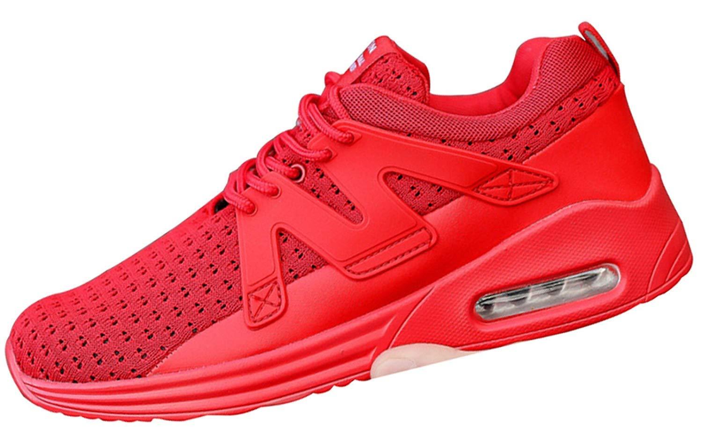 Männer Casual Sportschuhe Laufschuhe Campus Schuhe Stoßdämpfung Kissen Fitness Schuhe (Farbe : Rot, Größe : 44EU)