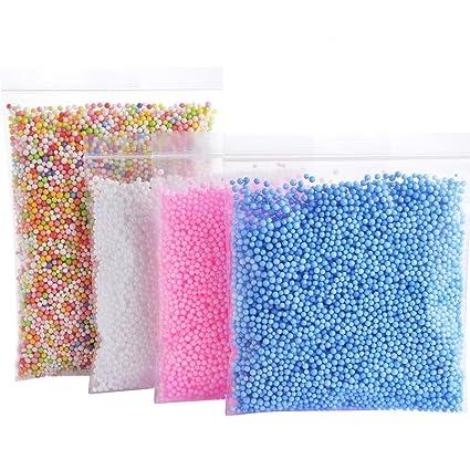 Amazon Com Foam Balls For Slime Colorful Styrofoam Balls Beads