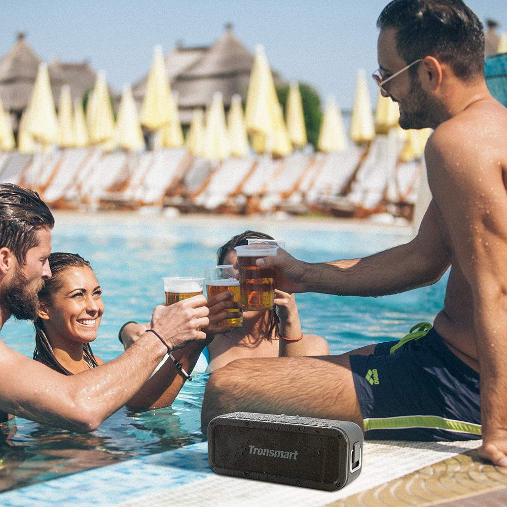 Portable Bluetooth Speakers, Tronsmart Force SoundPulse 40W IPX7 Waterproof Bluetooth 4.2 Wireless Speakers with 15-Hour Playtime, TWS, Dual-Driver with Built-in Mic, NFC, Deep Bass (Force) by Tronsmart (Image #9)