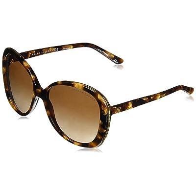 RALPH LAUREN 0RL8166 Gafas de sol, Havana Gold, 57 para Mujer: Ropa y accesorios