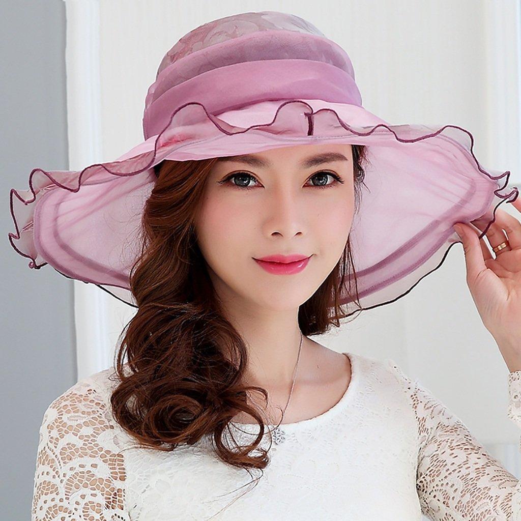B M mode capital Chapeau de Soie Femme Printemps été élégant Chapeau de Soleil Mode Chapeau de Soleil Chapeau de Soleil Dame Mode Chapeau Voyage Chapeau de Plage