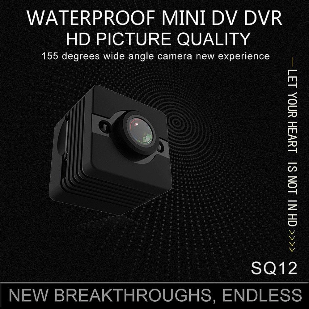 2018 New Original sansnail Mini cámara sq12 HD Videocámara sq8 sq11 Upgrade Visión Nocturna 30 m Resistente al agua Mini cámara 1080P Deporte Mini DV Voice ...