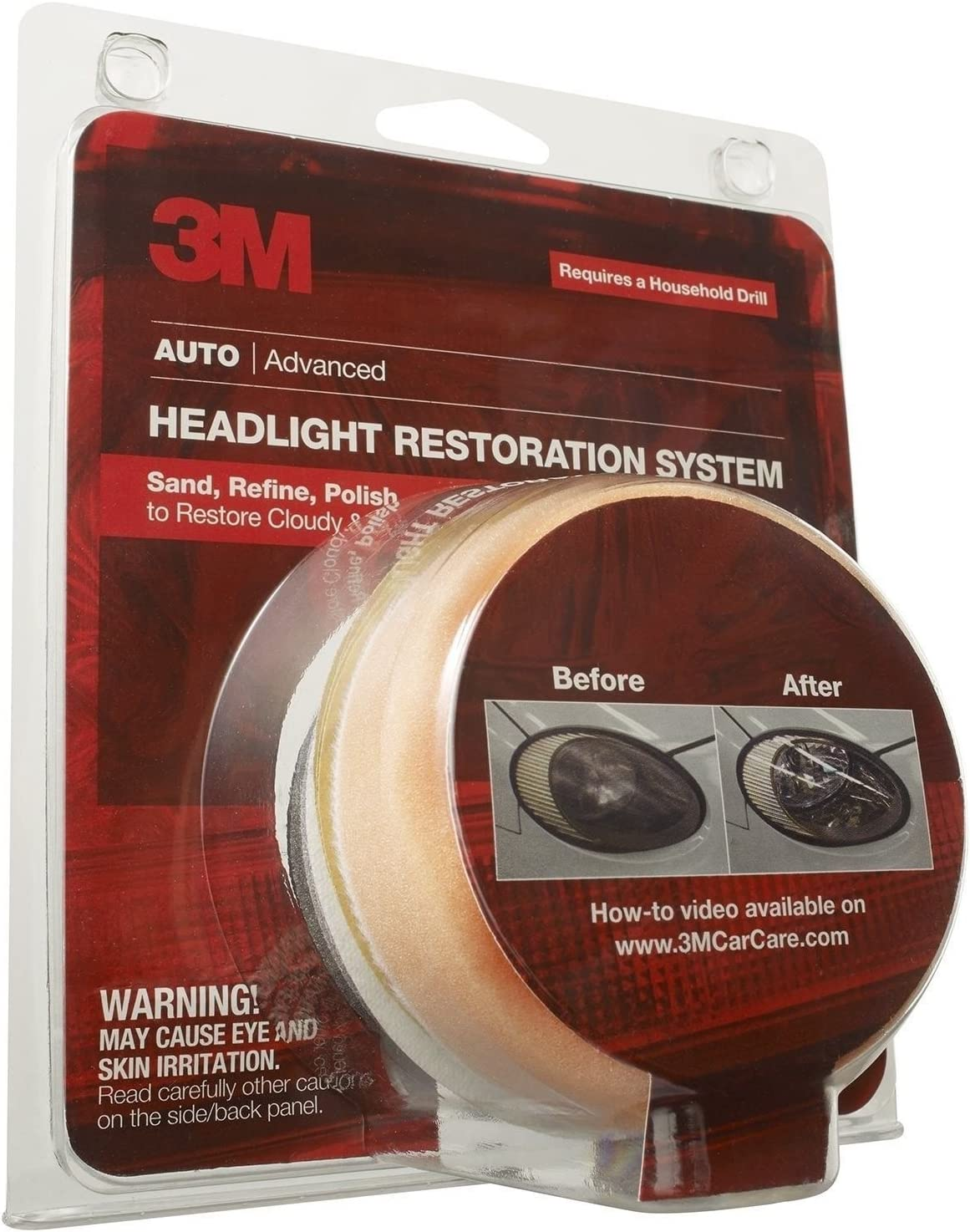 J/&W Pro 3M Headlight Lens Restoration System Restorer Kit 39008 Buffing Polish Plastic