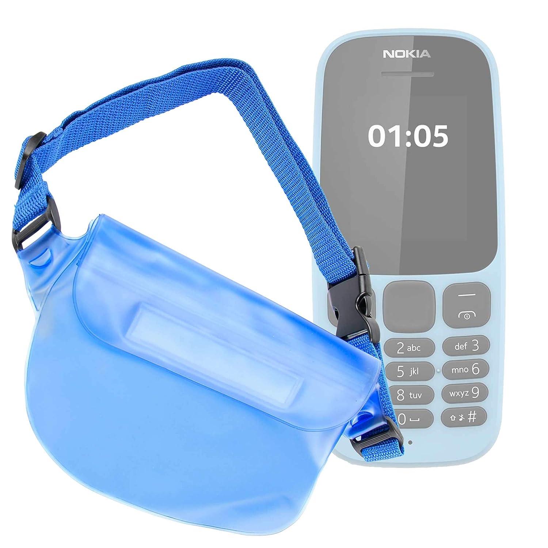 DURAGADGET Riñonera Azul Compatible con Smartphone Nokia 105 (2019 ...