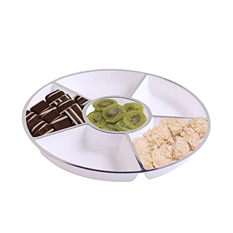 Party Bargains 6 Sectional Round Plastic Serving Tray Size 12 inch Color  sc 1 st  Amazon.com : sectional tray - Sectionals, Sofas & Couches