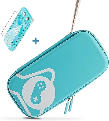 Funlab Ultra Delgado Funda y Protector Pantalla para Nintendo Switch Lite, Estuche rígido portátil Funda de ...