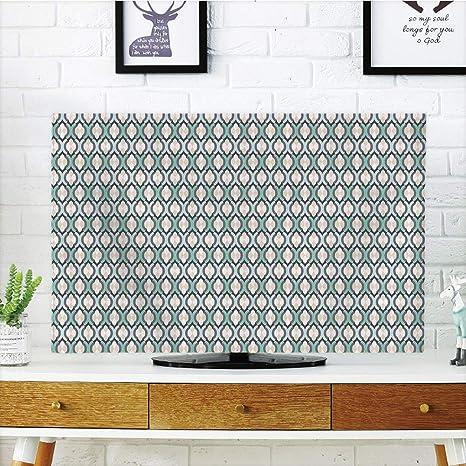 VAMIX - Funda para televisor LCD, diseño de Vacas de Dibujos Animados, Color Blanco, marrón, Rosa, Azul, Compatible con televisores de 55
