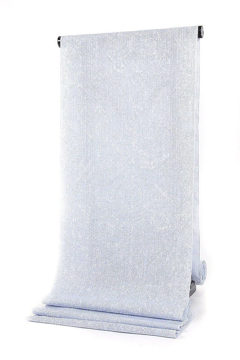女物 浴衣 反物 白×うす青紫 本耳 手染め ふたば謹製 生地 レディース   B07BQP35VP