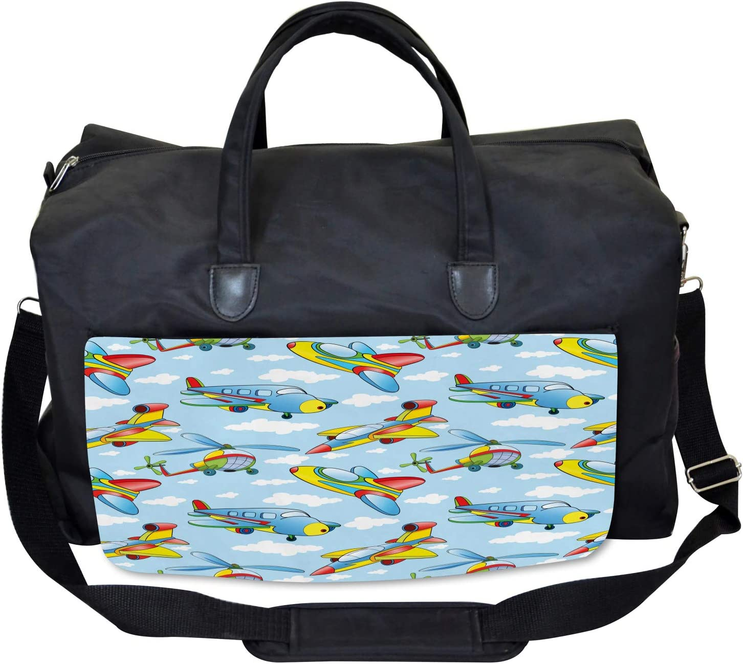 Planes and Helicopters Large Weekender Carry-on Ambesonne Plane Gym Bag