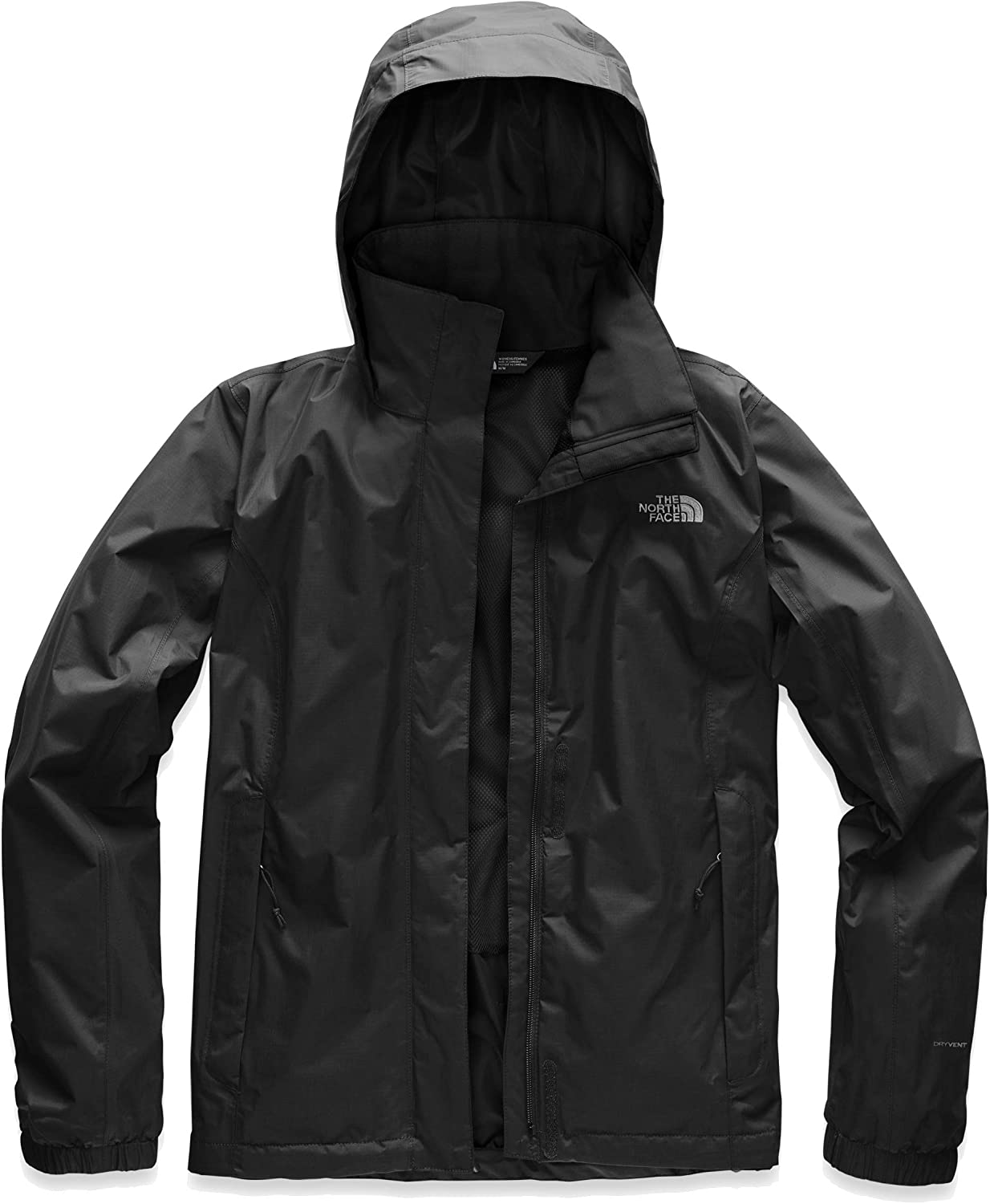 The North Face Women's Resolve 2 DWR Waterproof Hooded Rain Jacket: Clothing