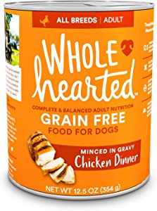 WholeHearted Grain-Free Adult Chicken Dinner Wet Dog Food, 12.5 oz., Case of 8, 8 X 12.5 OZ