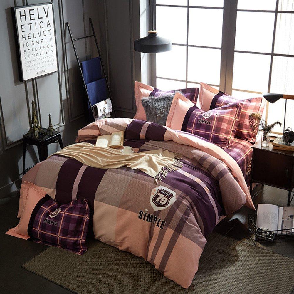 4個セット な ピュアコットン キルトカバー シーツ寝具 -O B07F65GPLH Queen2|O O Queen2